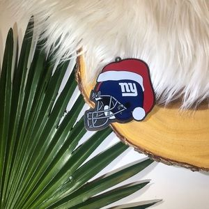 NFL Metal New York Giants Helmet Ornament